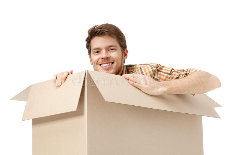 Download Hiding inside the box stock photo. Image of hair, freight - 25918776