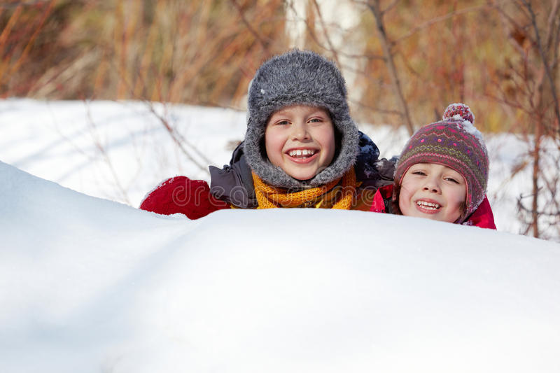 Download Hiding in snow stock photo. Image of people, happy, person - 25443958