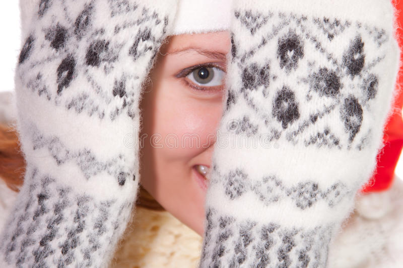 Download Hiding young woman stock photo. Image of posing, hide - 16784234