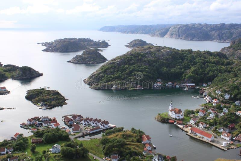 Hidra, Kirkehavn Kirkehamn стоковое фото