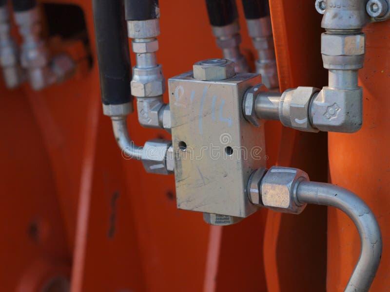 Hidraulic centrale klep stock afbeeldingen