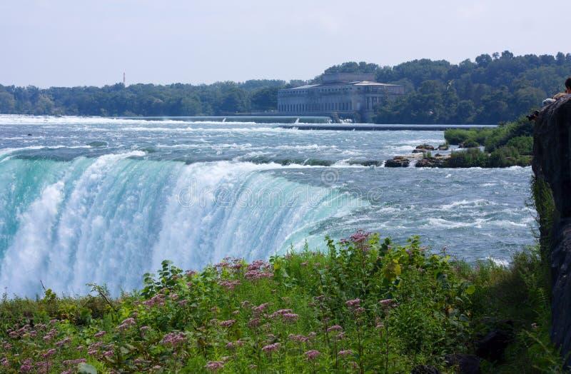 Hidro central eléctrica velha em Niagara Falls fotos de stock royalty free