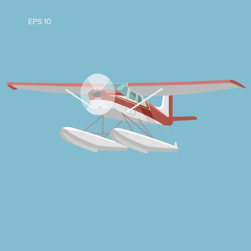 Hidroavião pequeno ilustração isolada do vetor ilustração do vetor