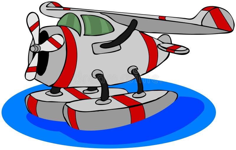 Hidroavión stock de ilustración
