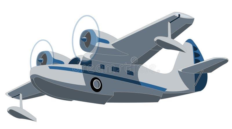 Hidroavión ilustración del vector