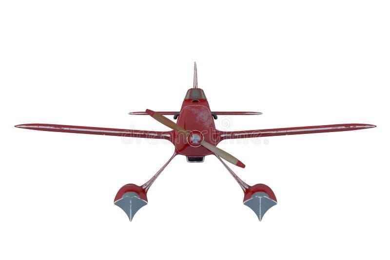 Hidroavión rojo 3d rinden ilustración del vector