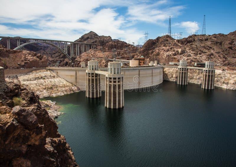 Hidromel do lago e represa de Hoover fotos de stock