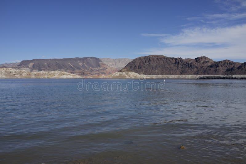 Hidromel do lago, parque estadual, Nevada imagem de stock