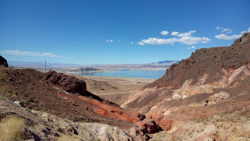 Hidromel do lago, parque estadual, Nevada imagens de stock