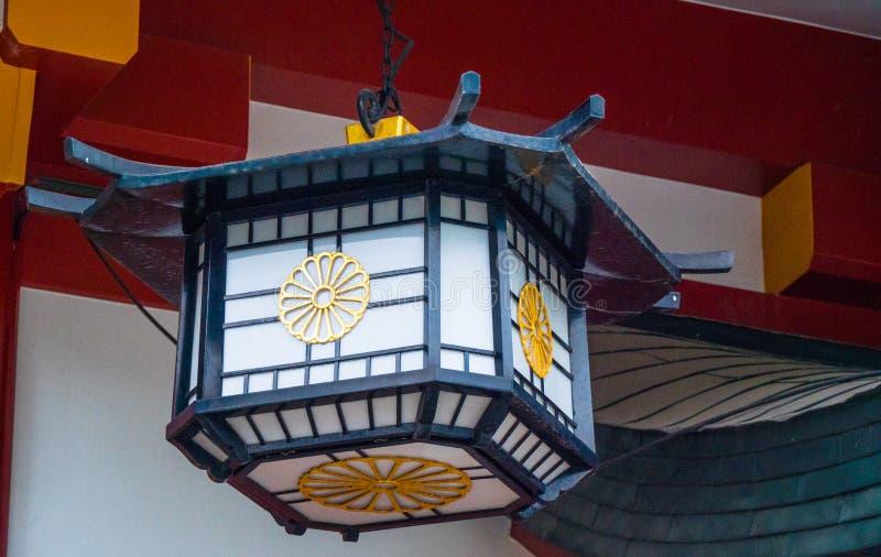 Hie famoso - shrine a Tokyo nella sera fotografia stock libera da diritti