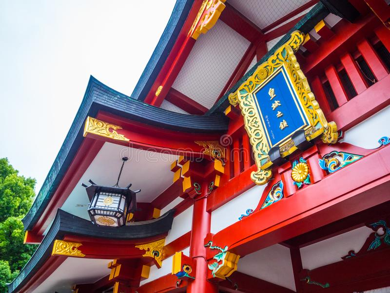 Hie famoso - shrine a Tokyo nella sera immagine stock libera da diritti