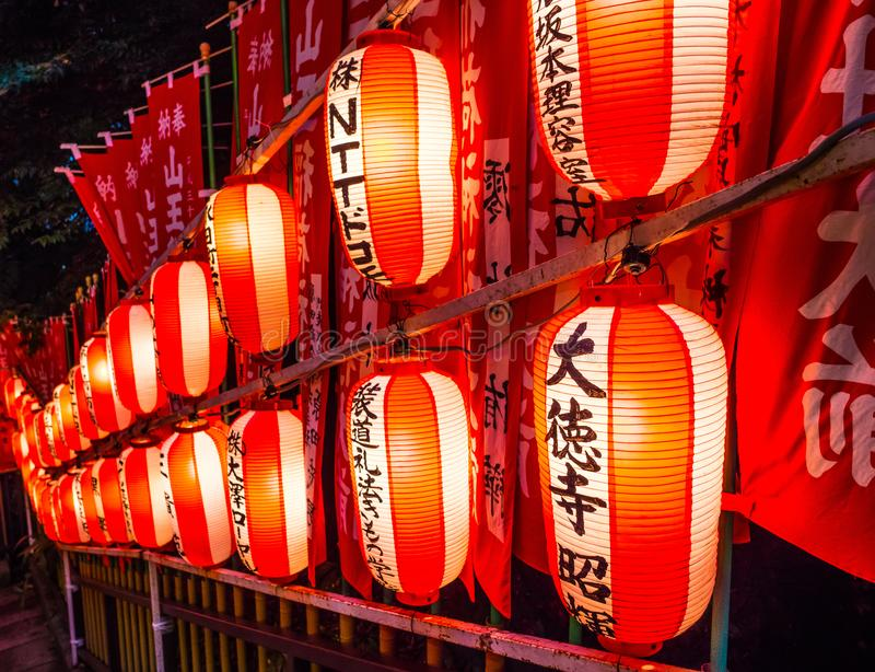 Hie famoso - shrine a Tokyo nella sera fotografia stock