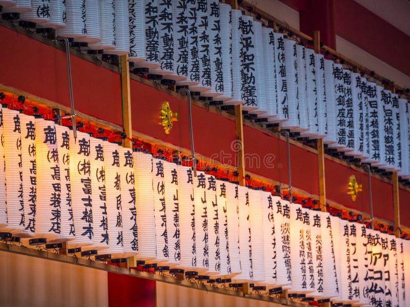 Hie famoso - shrine a Tokyo nella sera - TOKYO, GIAPPONE - 12 giugno 2018 fotografia stock libera da diritti