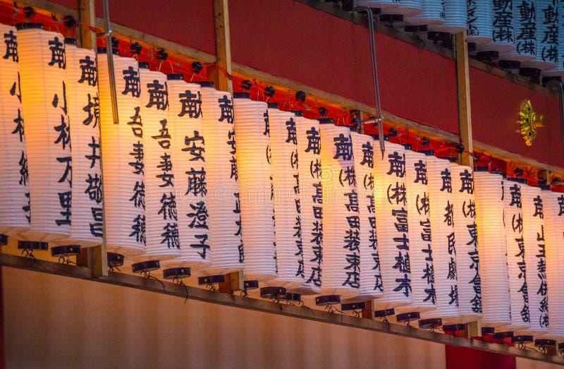 Hie famoso - shrine a Tokyo nella sera - TOKYO, GIAPPONE - 12 giugno 2018 immagini stock libere da diritti