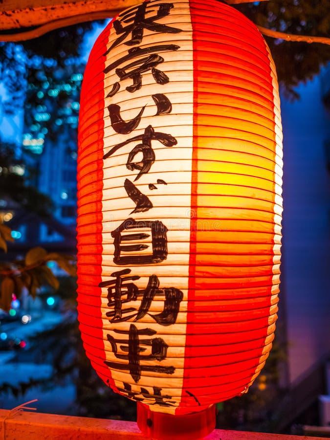 Hie famoso - shrine a Tokyo nella sera - TOKYO, GIAPPONE - 12 giugno 2018 fotografie stock libere da diritti