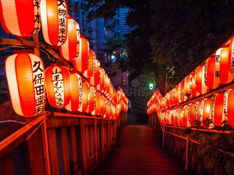 Hie famoso - shrine a Tokyo nella sera - TOKYO, GIAPPONE - 12 giugno 2018 fotografia stock