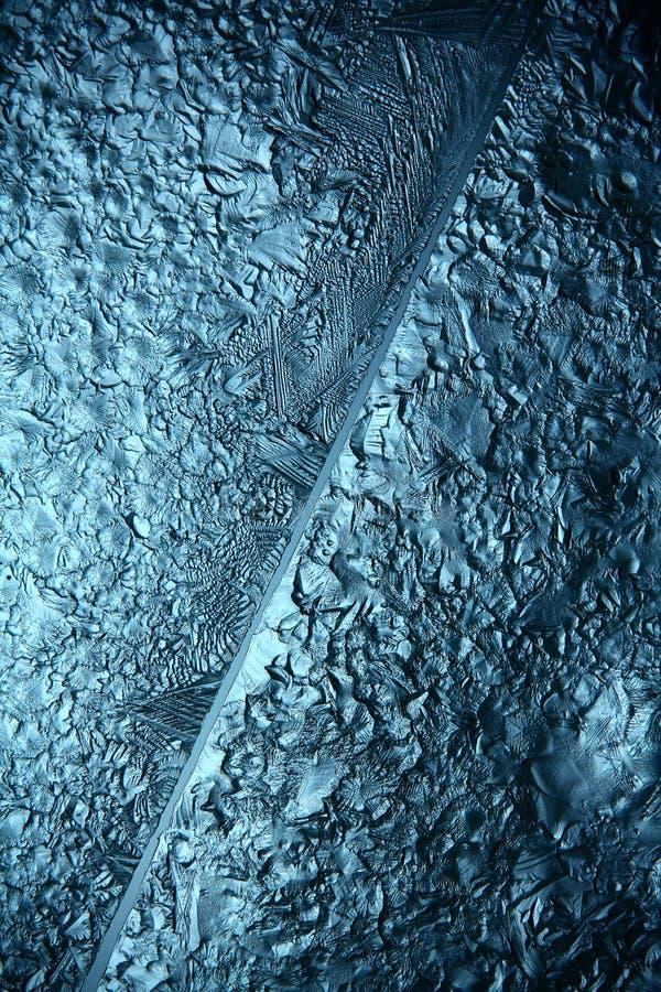 Hiele la textura, macro, frío roto azul el fondo fotos de archivo