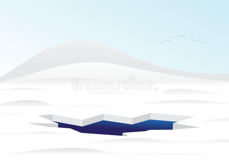 Hielo-agujero stock de ilustración