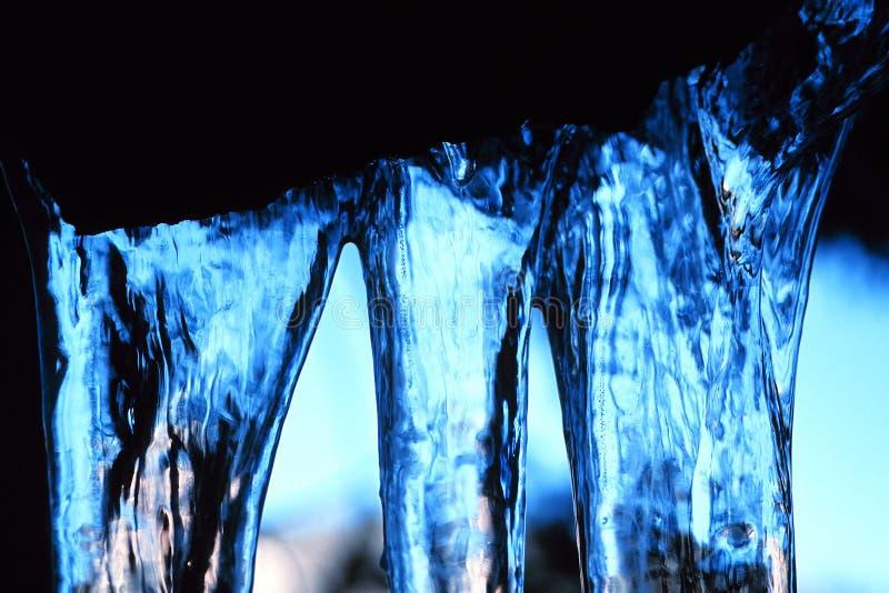Hielo azul foto de archivo