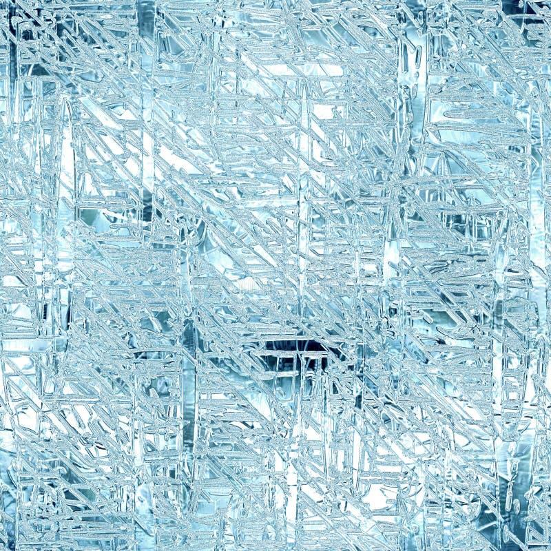 Hielo congelado textura inconsútil y del fondo de Tileable imagenes de archivo