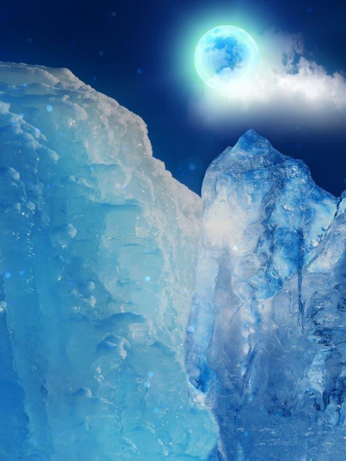 Hielo de la montaña del iceberg fotografía de archivo