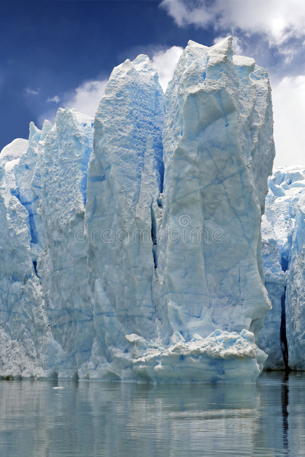 Hielo del glaciar imagen de archivo libre de regalías