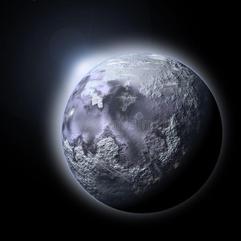 Hielo del planeta stock de ilustración