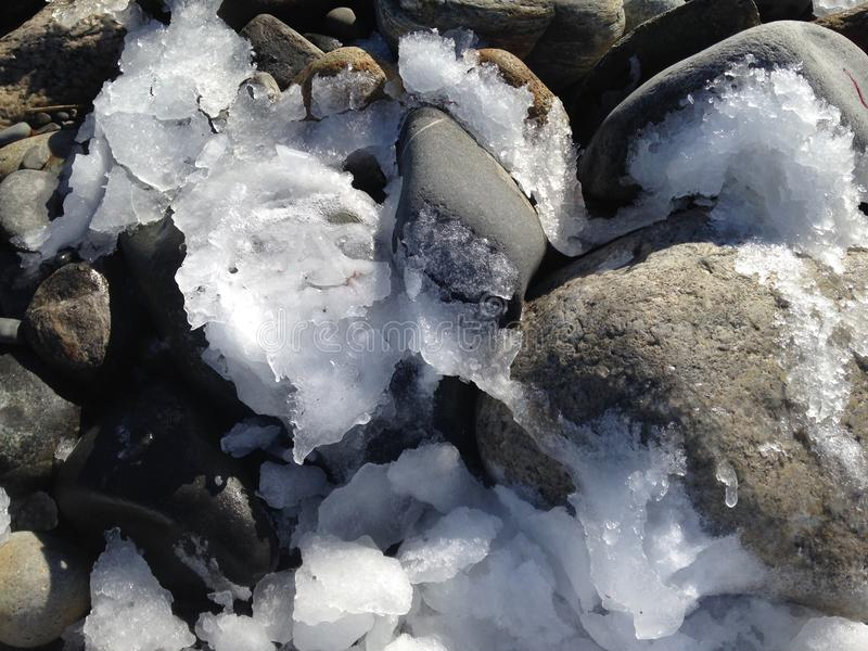 Hielo en las rocas imagen de archivo