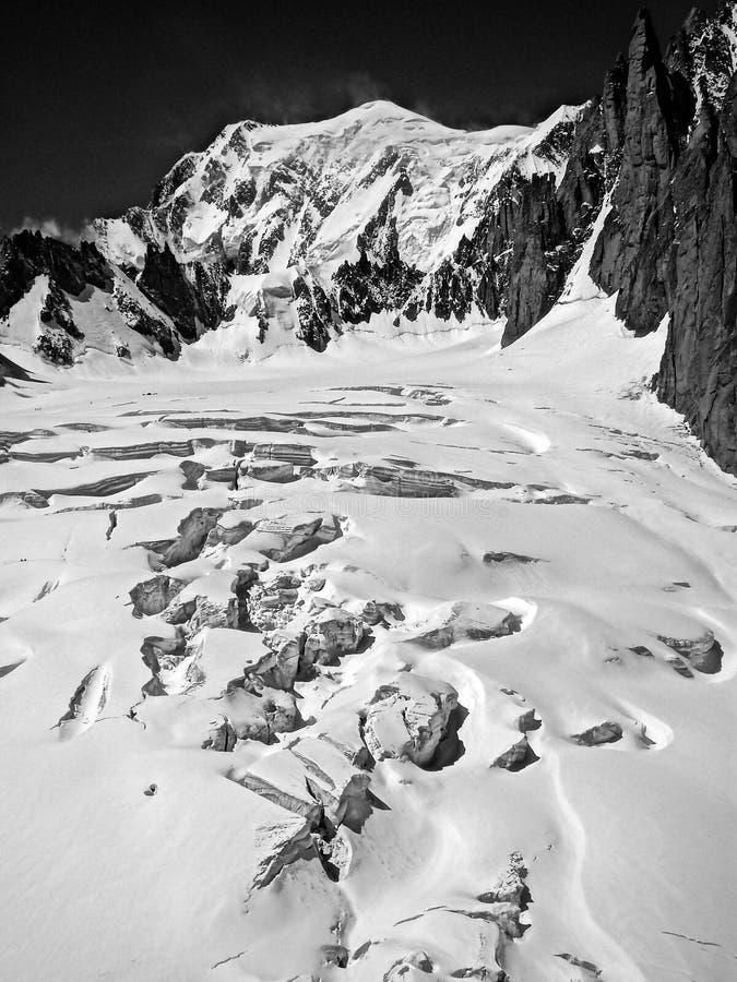 Hielo en Mont Blanc foto de archivo