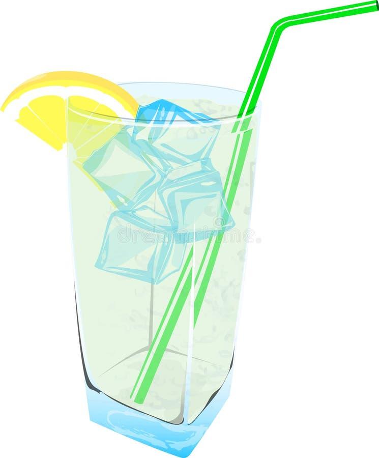 Hielo fresco de la bebida de la limonada fresco stock de ilustración