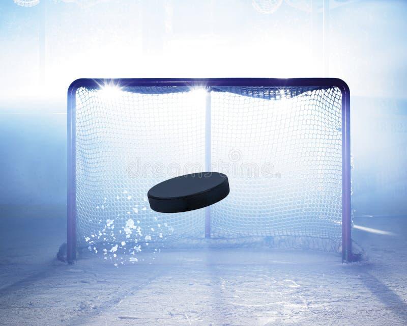 Hielo-hockey de la meta imagen de archivo