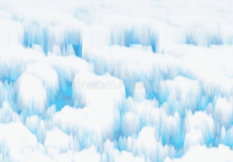 Hielo nevoso blanco stock de ilustración
