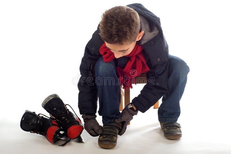Hielo-patinaje imagen de archivo libre de regalías