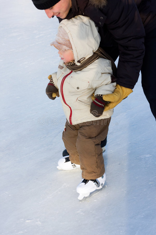 Hielo-patinaje fotos de archivo libres de regalías