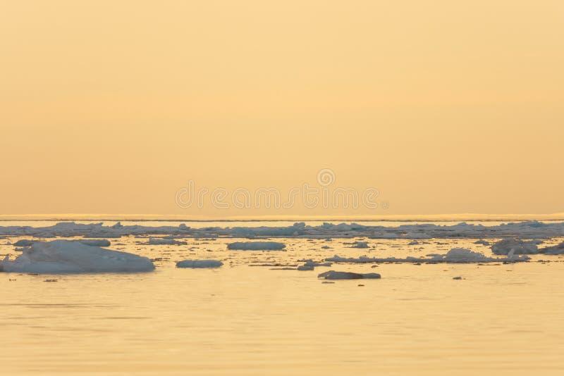 Hielo que flota en el mar tranquilo imágenes de archivo libres de regalías