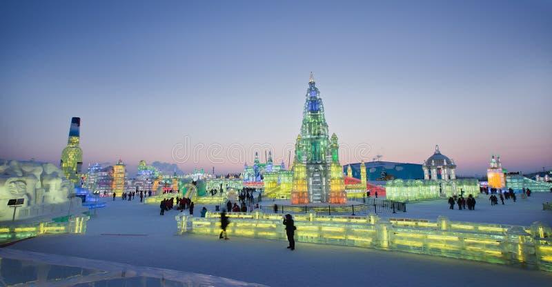 Hielo y mundo Harbin China de la nieve fotografía de archivo