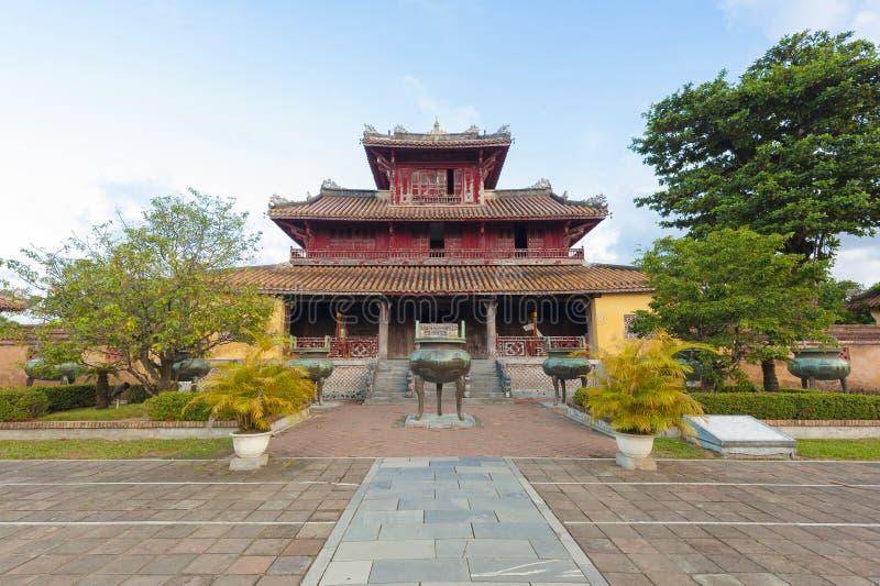 Hien Lam Pavilion en Dings stock afbeelding
