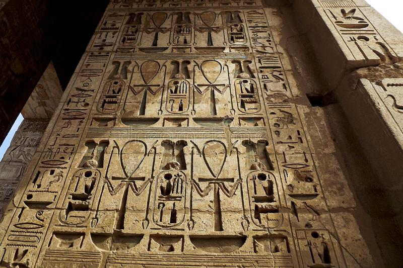 Hieróglifos antigos dos símbolos imagens de stock