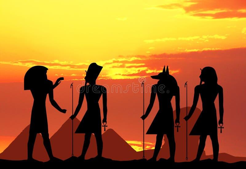 Hieróglifos egípcios ilustração stock