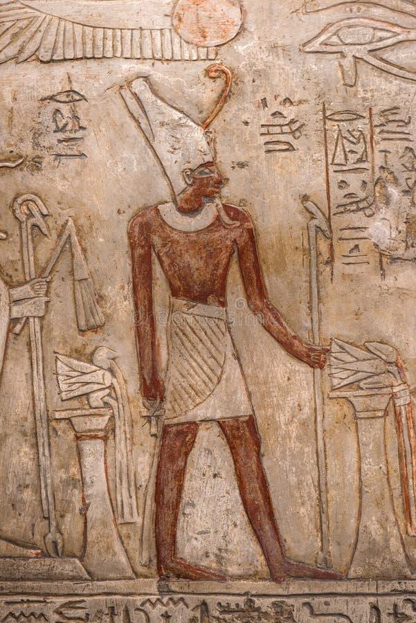 Hieróglifos egípcios antigos - imagem imagem de stock