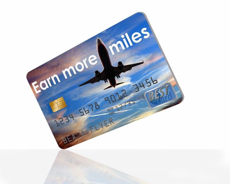 Hier is een de beloningscreditcard van luchtmijlen royalty-vrije stock afbeeldingen