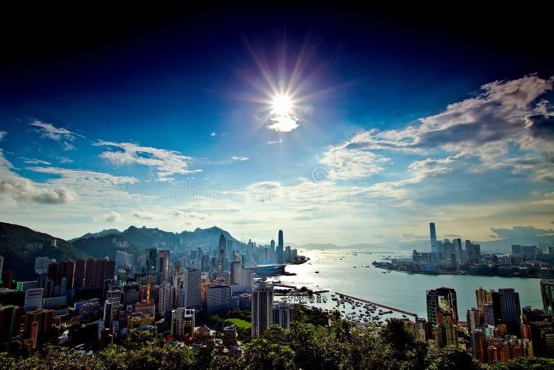 Hier is Hongkong royalty-vrije stock fotografie