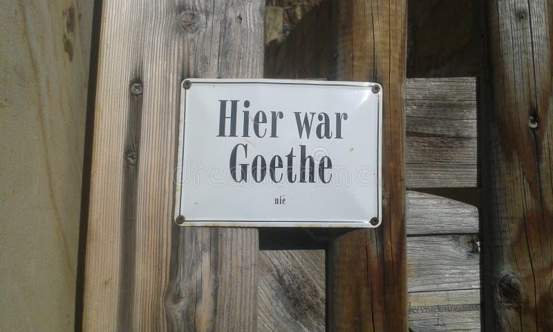 Hier-Krieg Goethe lizenzfreies stockfoto