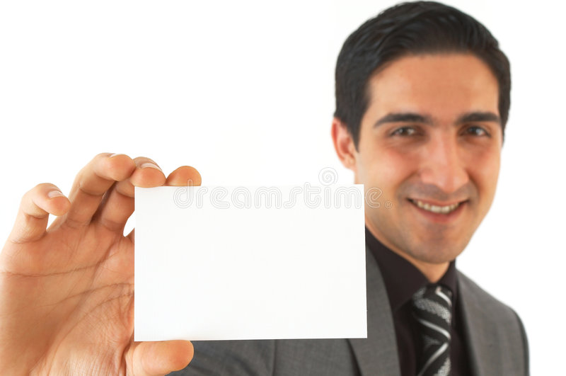 Hier is mijn adreskaartje royalty-vrije stock afbeelding
