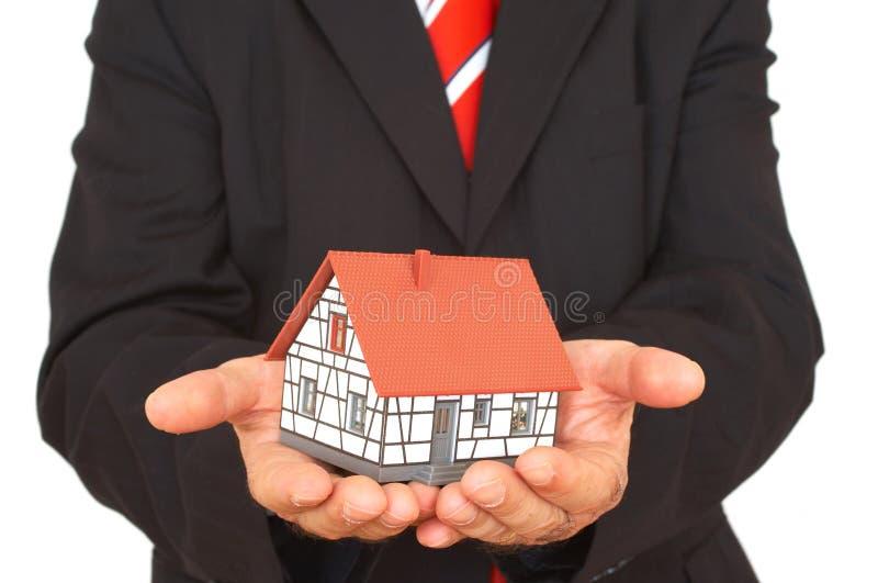 Hier is uw huis stock fotografie