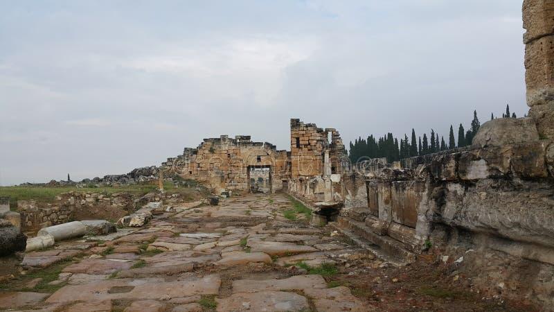 Hierapolis antyczny miasto zdjęcia stock