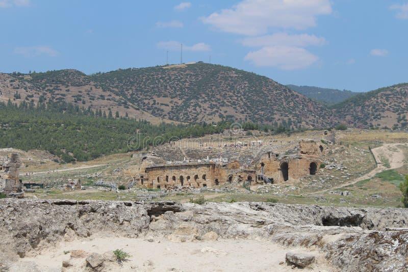 Hierapolis, Pamukkale Turqu?a imagen de archivo libre de regalías