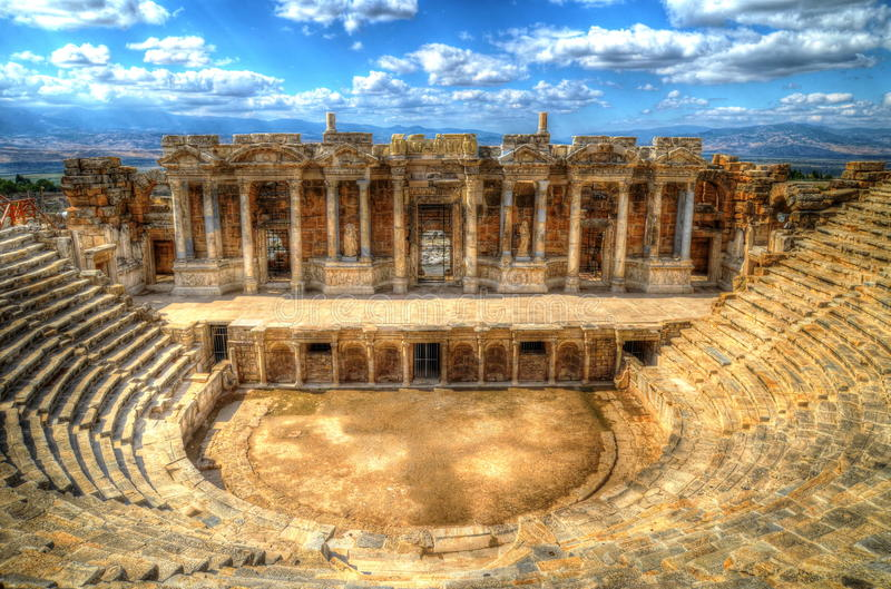 Hierapolis, teatr fotografia royalty free