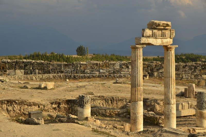 Hierapolis Turkije royalty-vrije stock foto's