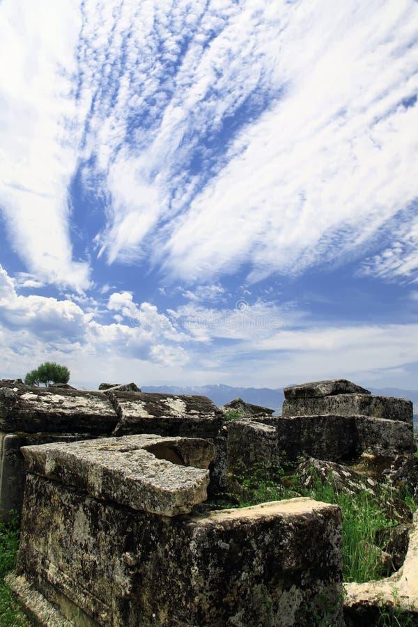 Hierapolis in Turkije Pamukkale stock afbeeldingen